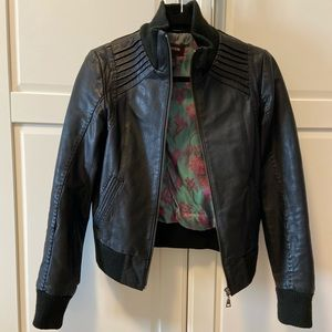Danier Leather Slim Fit Bomber Jacket